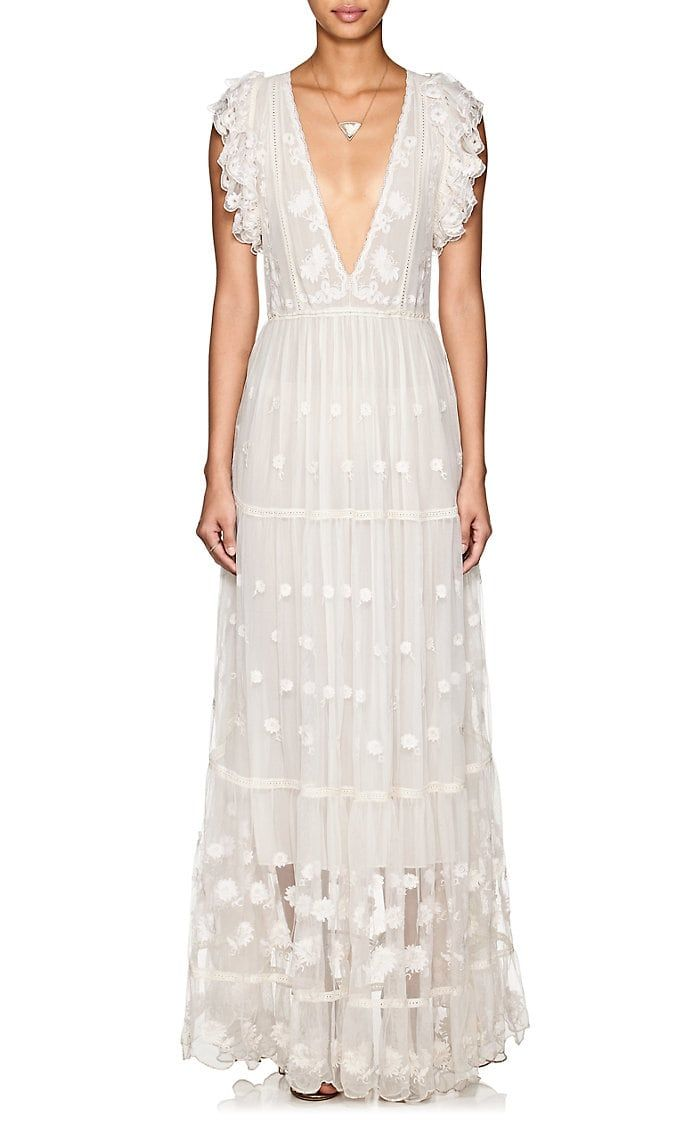 Dress Frippery Maxi Fifi Tulle Ulla Embroidered Johnson 7xqpwvvBS