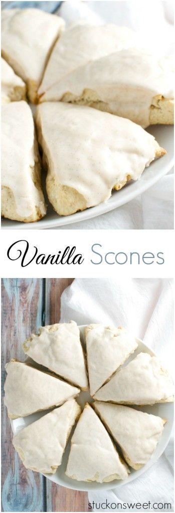 Vanilla Scones | stuckonsweet.com                                                                                                                                                                                 More