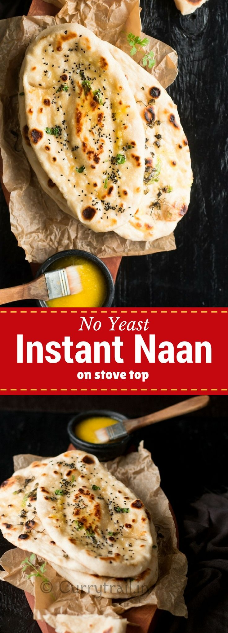 No yeast Instant Naan pin