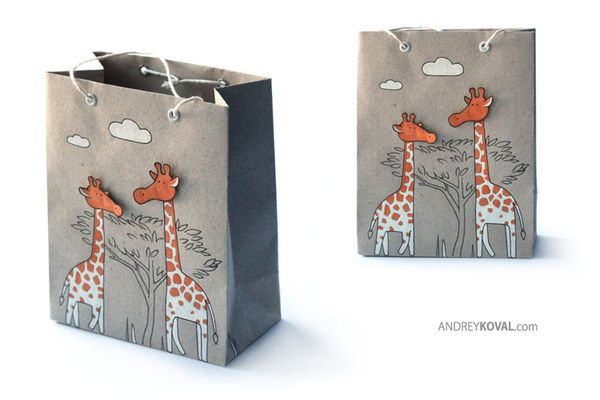Gift packages by Andrey Koval, via Behance