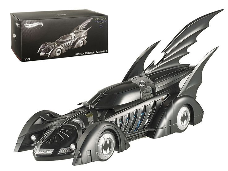 Hot wheels 1995 Batman Forever Batmobile Elite Edition 1/18 Diecast Car Model by Hotwheels - Brand new 1:18 scale diecast car model of 1995 Batman Forever Batmobile Elite Edition die cast car by Hotwheels. Brand new box. Rubber tires. Detailed interior, exterior. Made of diecast with some plastic parts. Dimensions approximately L-10.5, W-4, H-3.5 inches. Based on the legendary DC Comics character, the filmBatman Forever was directed by Joel Schumacher and starred Val Kilmer asBatman. This…