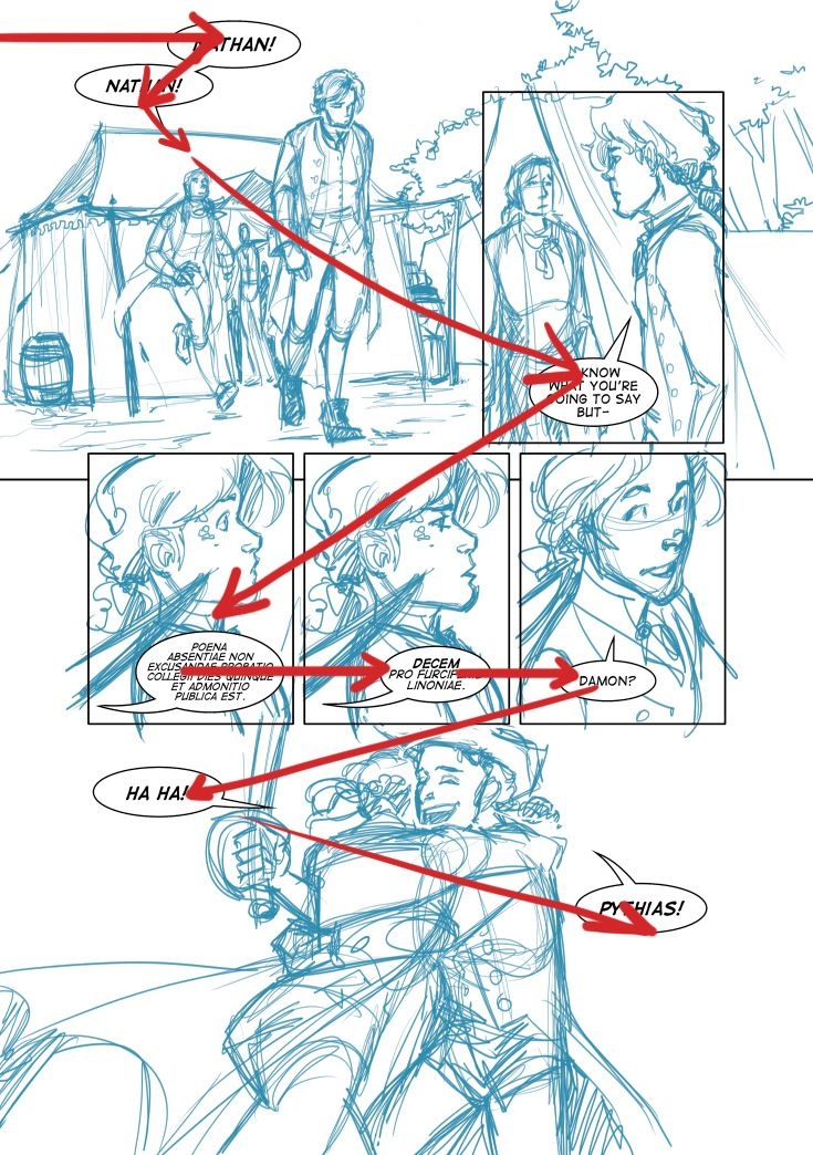 the zig zag pattern is illustrated on this sample Dreamer Comic page