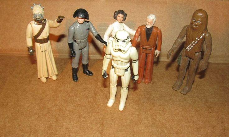 Vintage Starwars Star wars 1977 action figures lot  6 figure lot lucas arts