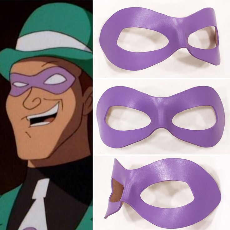 Riddler Animated leather cosplay mask