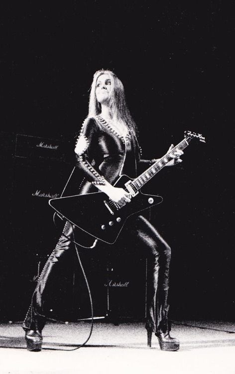Lita Ford with The Runaways in Sweden, 1977