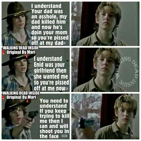 The Walking Dead, Memes, Carl Grimes, Chandler Riggs, Ron Anderson