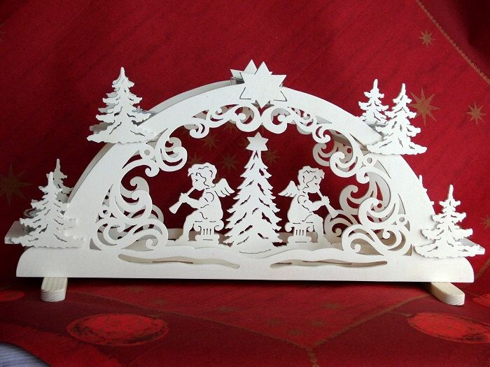 Unique german handmade christmas decoration candle arch for Arch candle christmas decoration