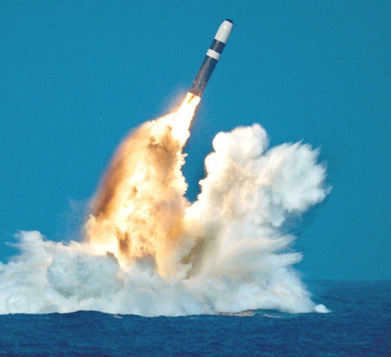 Trident Submarine Launched Ballistic Missile !