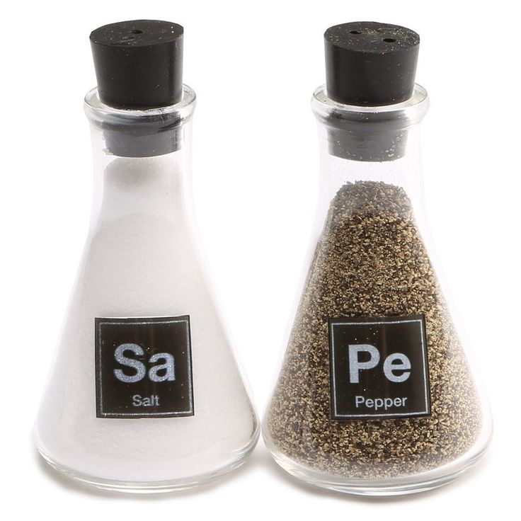 Science Flask Salt and Pepper Shakers
