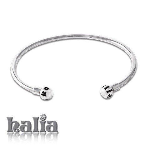 Halia Bangle Bracelet (small or large, open or overlap): Showcase your Halia charms on a classic bangle design. These bracelets will only accept Halia charms. Available in open and overlap styles. Sterling silver, hypo-allergenic and nickel free.     $88.00