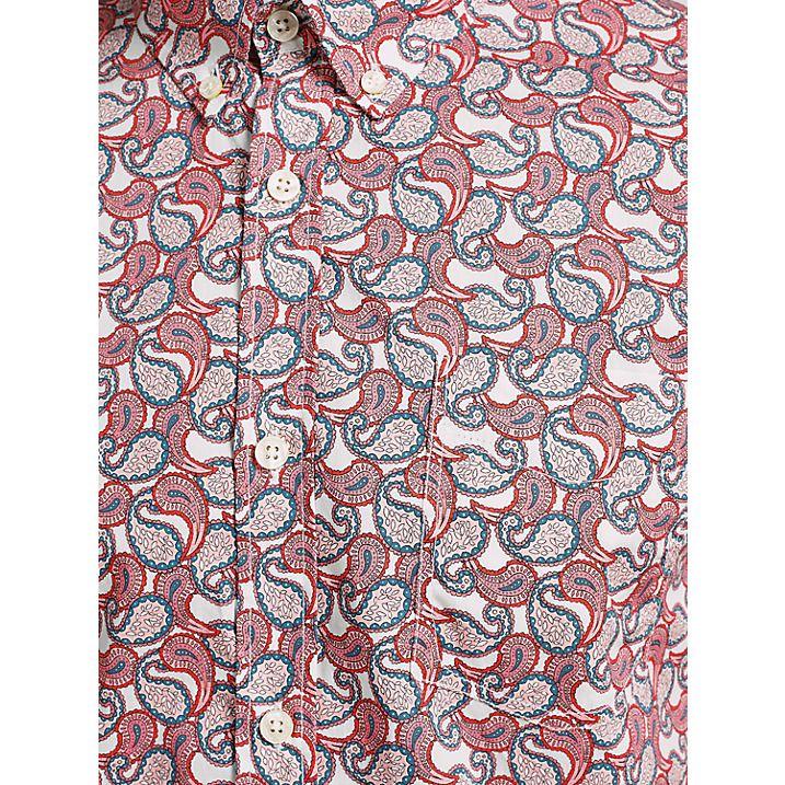 Buy Pretty Green Leyside Short Sleeve Shirt, Ecru/Multi, S Online at johnlewis.com