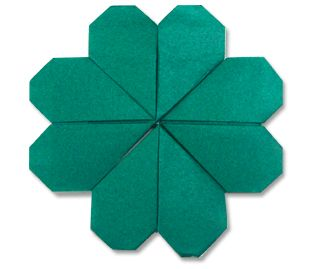 shamrock, clover, 4 leaf clover, four leaf clover, paper four leaf clover, origami four leaf clover, st. Patrick's day, st. patty's day, crafts, st. Patrick's day crafts, origami,: Four Leaf Clover