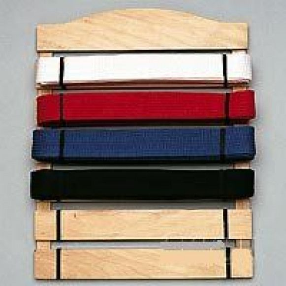 Need To Figure Out How To Build This Six Level Belt Martial Arts Display Rack Holder Martialarts Martial Belt Display Karate Belt Display Belt Display Rack