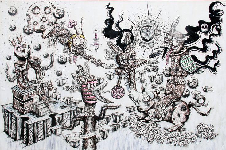 My painting, lowbrow, pop surrealist