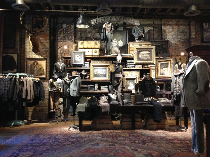 Fashion display and merchandising inside RRL in New York. Photo by alphacityguides.