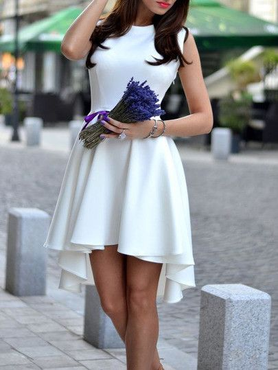 17 Best ideas about Asymmetrical Dress on Pinterest | White bridal ...