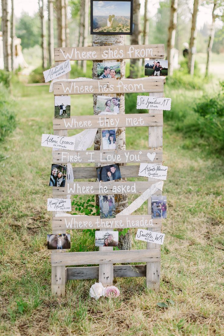 #signs  Photography: Cluney Photo - www.cluneyphoto.com  Read More: http://www.stylemepretty.com/2013/12/16/sky-ridge-ranch-wedding/