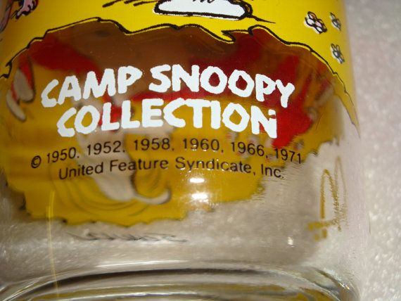McDonald's Camp Snoopy Collection Glass by QuiltBlocksandMore