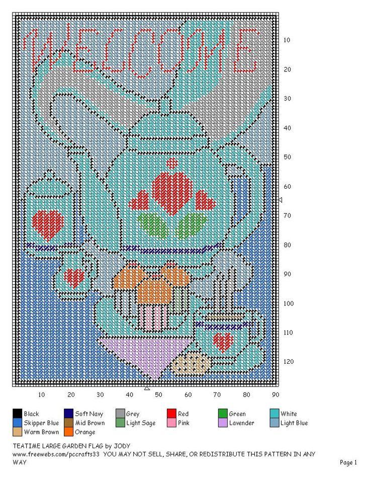 68 best Plastic Canvas Garden Flags images on Pinterest