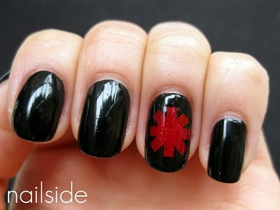 Red Hot Chili Peppers - I already have the tattoo so why not get it on my nails! Would love to do this.