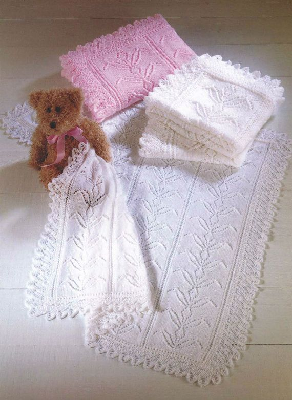 Knitting Patterns For Baby Blankets And Shawls : Best vintage baby blankets images on pinterest