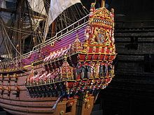 April 24, 1961 – The Swedish ship Regalskeppet Vasa is removed from the water after being sunk 333 years earlier.    A 1:10 scale model of the ship on display at the Vasa Museum. The sculptures are painted in what are believed to be the original colors.