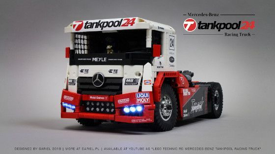 Mercedes Benz Tankpool Racing Truck Technic Lego Trucks Lego