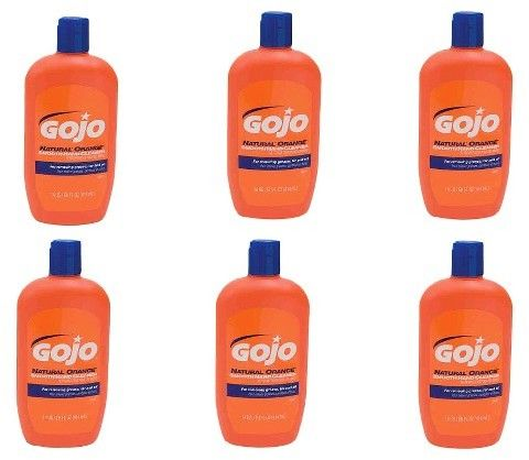 Quest Gojo Natural Orange Smooth Hand Cleaner 14 Oz 6 Pack Cleaners Citrus Fragrance