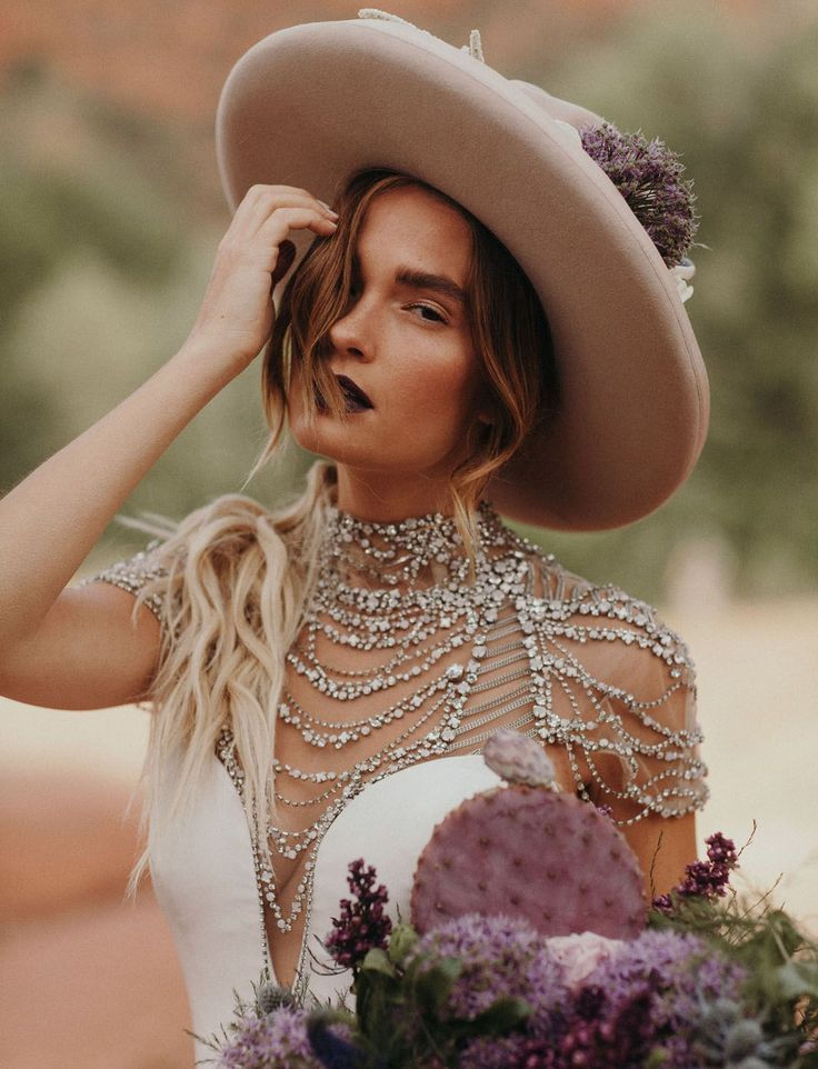 Bridal Trend with Hats // Boho Hipster Bride with Casey Quigley
