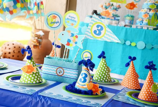 Rainbow Fish 3rd Birthday Party - Kara's Party Ideas - The Place for All Things Party