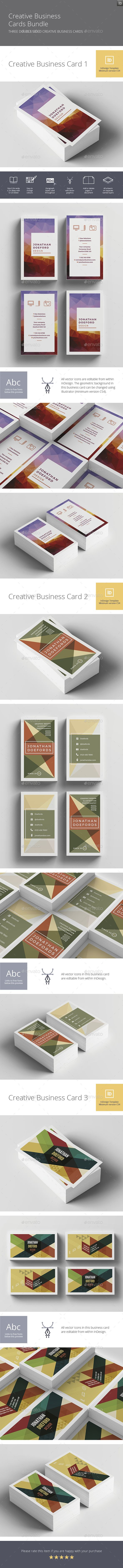 Creative Business Cards Bundle  — InDesign Template #phone icon #cog icon • Download ➝ https://graphicriver.net/item/creative-business-cards-bundle/18482352?ref=pxcr