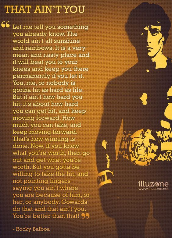 That Ain't You // Rocky Balboa #strong #favorite
