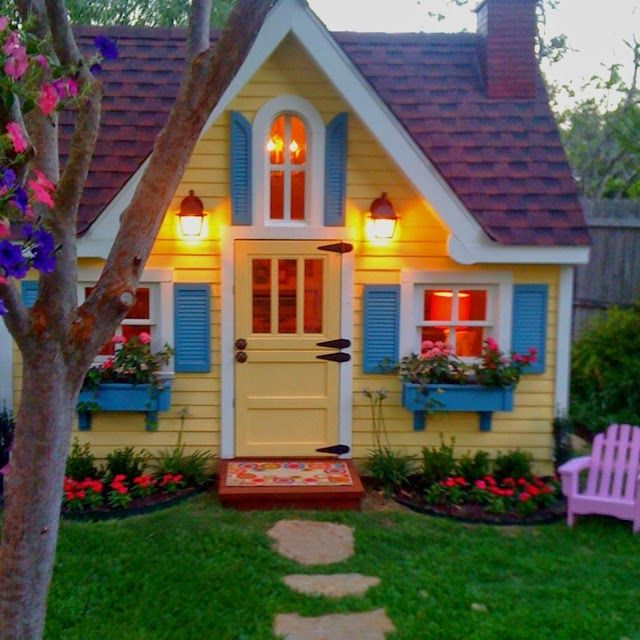 Beautiful Backyard Playhouse Get Outside Pinterest