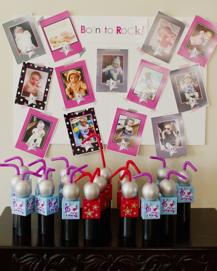 Inkberry Cards & Design Blog - Designer Invitations, Photo Cards, Stationery and More!: Featured Customer Party: Rockstar Girl 1st Birthday!