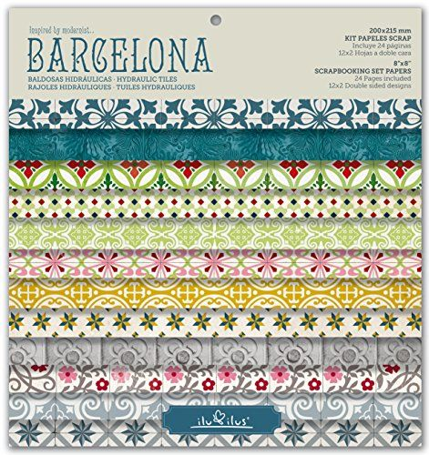 KIT PAPELES SCRAP, PAD BARCELONA 8''-203mm//SCRAPBOOKING SET PAPERS, PAD BARCELONA 8''