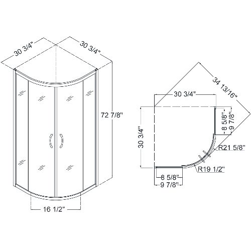 Shower stall dimensions roselawnlutheran for Dimensions of a bathroom stall