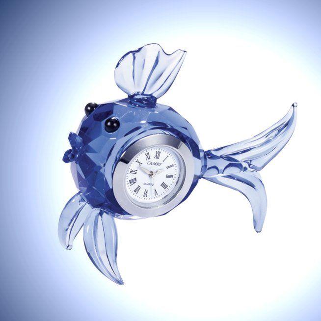 Crystal Fish Clock
