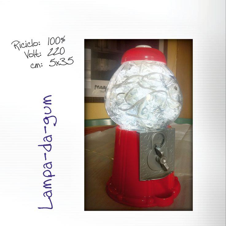 Lampada da tavolo bubblegum #bubble_gum #vintage #lampada