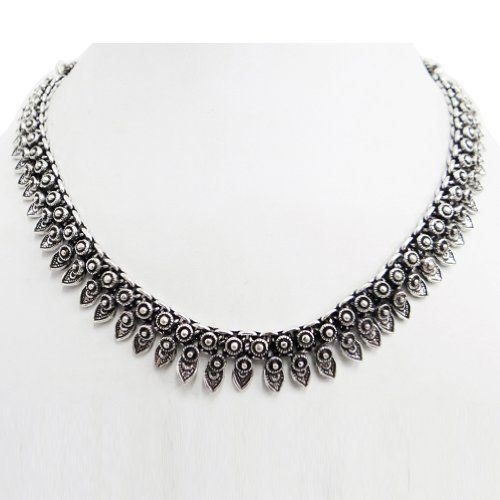 """Silver Tone Metal Tribal Ethnic Necklace Classic Banjara Fashion India Women Jewelry IBA. $27.99. SALE FOR - 1 Necklace. Silver Tone Metal Tribal Ethnic Necklace Classic Banjara Fashion India Women Jewelry. For the detail about the material please read the description.. SIZE - Length 16"""" inches, Drop 8: inches;"""