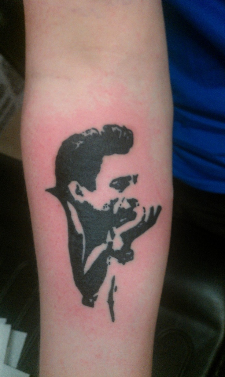 The best Johnny Cash tattoo I've seen. Simple and clean.