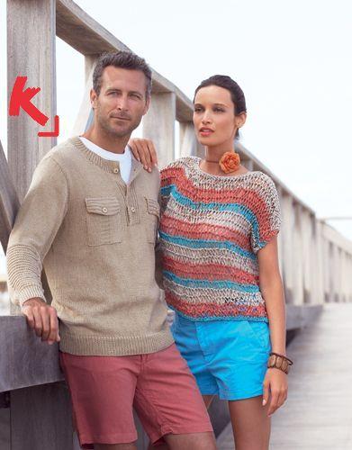 Jersey de hombre tejido con Katia New Orleans · #Jumper, #pullover, #jersey, #sweater for men #handmade #fathersday #diadelpadre #gifts #moda #hombre #fashion #men #knitting #katiayarns #katialanas#Ideas #regalos #patrones #tejidos #patterns #man