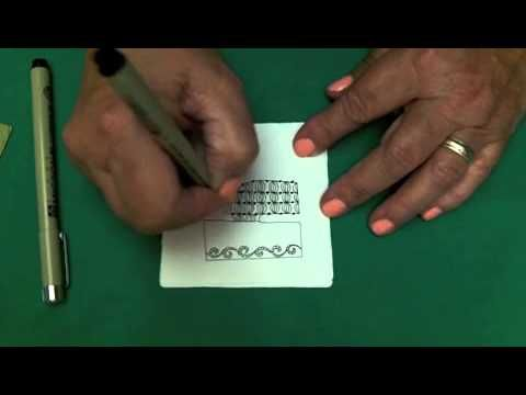 Monograms - Alphabets with Zentangle® - Includes instructions for Eddy (@ 3:14), Pouf (@ 4:34), & Lace Curtains (@ 6:45)