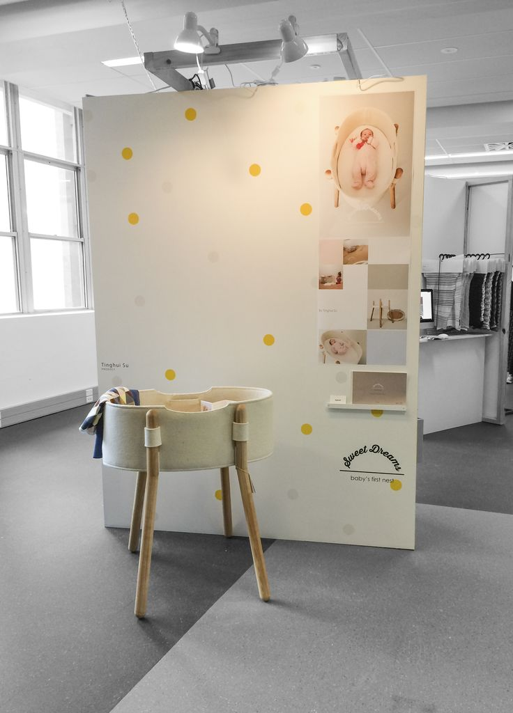 Exhibition day of the 'sweet dreams' bassinet.