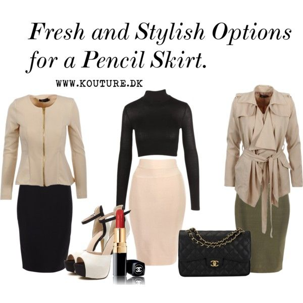 Fresh and stylish way for a pencil skirt by Kouture Denmark by jessicamola on Polyvore featuring Chanel