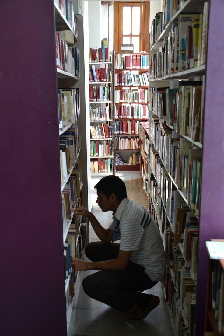 Buscando fuentes en la Biblioteca de Comfamiliar