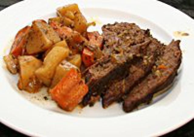 Crock-Pot Chili-Seasoned Tri-Tip Roast with Vegetables. Every time I make this it's a bit hit