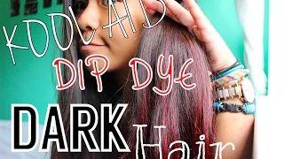 how to dip dye hair with kool aid for dark hair - YouTube