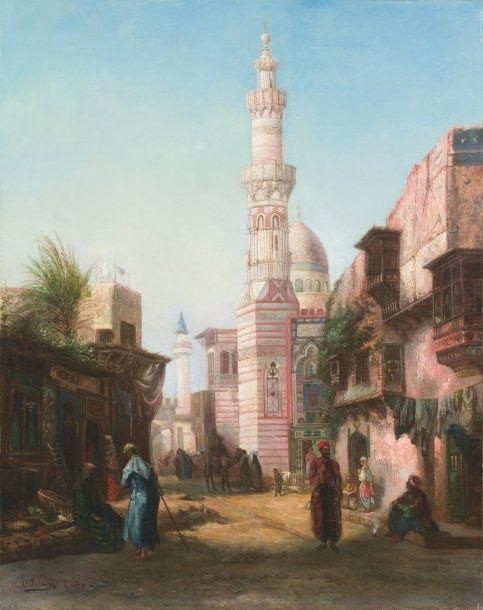 Otto Pilny - Oriental street scene #2