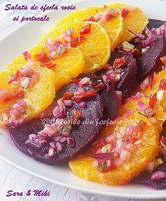 Salata de sfecla rosie si portocale