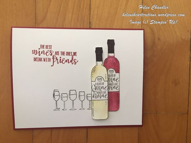 "Love this card made using the Half Full stamp set from the 2017 Holiday Catalogue which will be available 1st September 2017. Card-base in Cherry Cobbler 5½"" x 8½"" Whisper White card 5⅜"" x 4⅛"" Scra…"